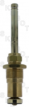 "Broadway* Repl Tub & Shower Stem + 1/2"" Pol Brass -RH H/C"
