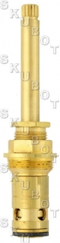 Central Brass* Tub Shower Non-Rising Stem LH -C<BR>Rare