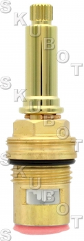 Nicolazzi* Replacement Cer Disc Cartridge -Hot -Pol Brass
